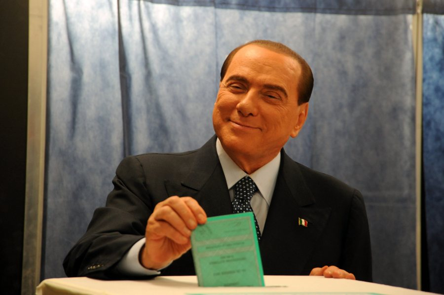 ITALY-MILAN-PARLIAMENTARY ELECTION-BERLUSCONI